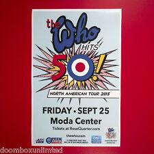 The Who 2015 Original 11x17 Concert Promotion Street Poster. Portland Oregon.