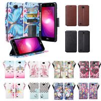 For LG Fiesta 2 LTE, Fiesta LTE Leather Magnetic Fold Wallet Case Cover
