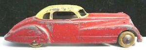 "Vintage Tootsietoy Car 5 3/4"" #1017 Red & Cream Jumbo Coupe"