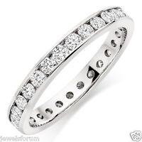 0.75 Ct Diamond Eternity Band Ring White Gold Round Cut 14k White Gold