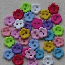 Unbranded Flower Plastic Scrapbooking Buttons