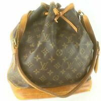 LOUIS VUITTON NOE Drawstring Shoulder Bag Purse Monogram M42224 Brown