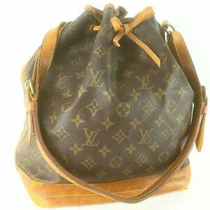 LOUIS VUITTON NOE Drawstring Shoulder Bag Purse Monogram M42226 Brown