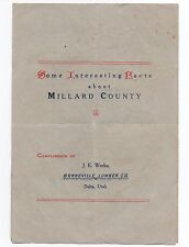 """1912 Brochure """" Some Interesting facts about Millard county """" Delta Utah"""
