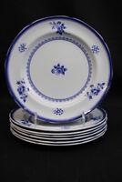 "Set 7 Copeland Spode Blue Gloucester Fine Stone China Luncheon Plates 8.5"""