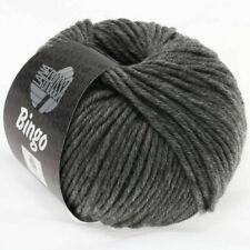 Lana Grossa  Bingo Fb. 120 Dunkelgrau Meliert 50 gr.  LL 80 Meter