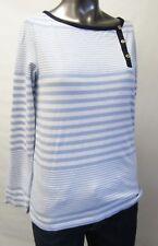 Tommy Hilfiger,Neuwertig,Damen,Shirt,Langarm,Blau/Weiß,Gestreift,M(USA),Gr.40