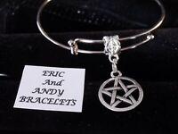 Pentacle bracelet huge sale Pentagram jewelry Pentacle gift Symbol of witchcraft