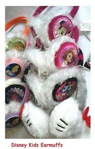 Brand New Disney Kids Earmuffs Girls Ears Warm Winter Cute Fur Fluffy Headband