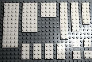 LEGO Bricks-Plate Mix Sizes 4x12,4x8,4x4,2x10,2x8,2x6,2x4,2x2 - White- NEW!