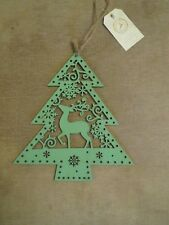 Beautiful Nordic style wooden stag Christmas tree hanging Christmas decoration