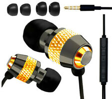 IN EAR EARPHONES HEADPHONE METAL NOISE ISOLATING EARPHONE FOR MP3 4 5 GOLD