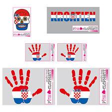 Aufkleber-Set - Kroatien - Hand - Fahne - Sugar Skull sticker finger print mano