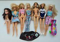 Vintage Rare Lot of 7 Mattel Barbies Dolls Clothes 1966 Leather Jacket