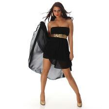 Sexy Vokuhila - Kleid Schwarz  34 36 38  Bandeaukleid Abendkleid Midi Kleid