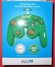 Wired Fight Pad for Wii U / Wii - LINK - Compatible w/ Super Smash Bros! New!