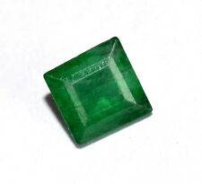 0.61 Cts Certified Natural Emerald Square Cut 5 mm Deep Green Shade Gemstone