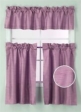 Kitchen Collection Set Window Dressing Curtain Solid Blackout 3Pc K3 Lilac