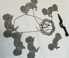 Metal Rustic Motorcycle Windchimes *6 Motorcycles Included*