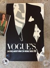 Normal size Wall PosterVOGUE 1982 Vintage Promotional POSITIVELY NEUTRAL COLOURS