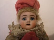 ANTIQUE GERMAN MUSICAL MAROTTE DOLL CIRCA 1890 beautiful face with blue eyes