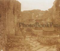 Pompei Italia Placca Lente Stereo Vintage