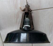 ANCIENNE LAMPE SUSPENSION ABAT JOUR DESIGN INDUSTRIEL