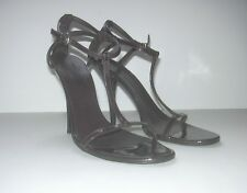 GUCCI PATENT LEATHER STILETTOS  GG ON HEEL SHOES  SZ  US  9 1/2 B