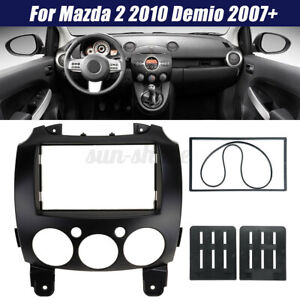 2Din Car Radio Stereo Fascia Dash Mount Panel Frame For Mazda 2 2010 Demio 2007+