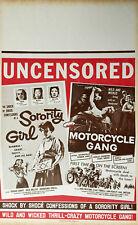 SORORITY GIRL / MOTORCYCLE GANG Combo Benton window card
