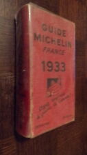 GUIDE MICHELIN FRANCE 1933