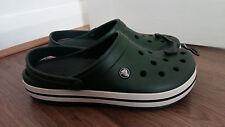 Para Hombre Crocs Crocband verde tamaño de Reino Unido 12 totalmente nuevo con etiquetas