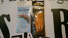 Sea fishing Boat Rigs x 2 - 3 HK muppet rig, feathers - Cod, Ling, Pollack