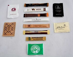 Sugar in 12 Sticks & Packs travel souvenirs Collection from Europe Ukraine S7