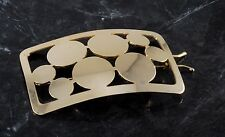 Vintage Hair Barrette Gold Plated Metal Bubble Design Hair Accessorie