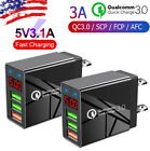 2PACK 3 Port Fast Quick Charge USB Hub Wall Charger Power Charge Adapter US Plug