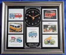 Vw transporter 1968-1980 bay windows modèle superbe collector cartes horloge murale