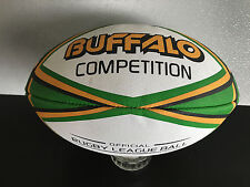 Brand New Buffalo Brand Premium Rubber Full Size 29cm Green/Gold Rugby Ball