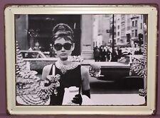 Tin Signs Retro Breakfast At Tiffany's Audrey Hepburn Wedding Bar Fashion Garage