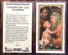 LAMINATED CARD TO ORACION POR LAS FAMILIAS - TEXTO EN ESPAÑOL #JHS11