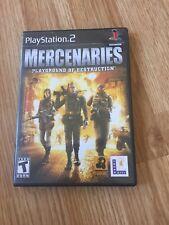 Mercenaries Playground Of Destruction PS2 Sony PlayStation 2 Cib Game XP1