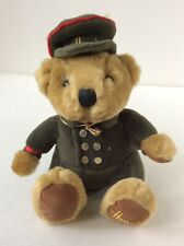 "Harrods Knightsbridge Teddy Bear Plush Soft Toy 6.5"" Uniformed Doorman"