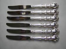 VINTAGE SET 6 ONEIDA MANSION HOUSE SILVER PLATED DESSERT KNIVES