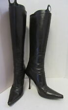 JIMMY CHOO Knee High Brown Leather High Heel Boots Size 39