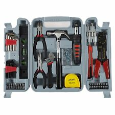 130 Piece Tool Set Home Repair Ultra Steel Kit Case Stalwart Mechanic Tools New