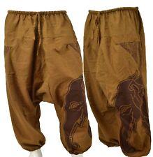 Alibaba Harem Brown Tan Elephant Head Trousers Hippy Aladdin Trouser Pant Unisex