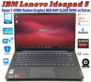 "LENOVO IDEAPAD 5 14.1"" RYZEN 7 4700U RADEON 8GB 512GB NVME WIN10PRO OFFICE2016PP"