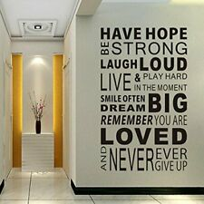 Delma Inspirational Wall Decals Quotes,Word Wall Sticker Quotes,Motivational Wal