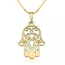 24K Gold Plated Hamsa Hand (Kabbalah) Necklace