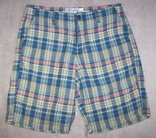 "Lucky Brand Guys Men's Casual Shorts Blue Plaid Size 29 Waist 9"" Inseam"